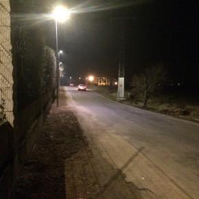 El camino de las piscinas de La Planilla de Calahorra ya está iluminado gracias a Ciudadanos