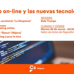 Cs Nájera organiza una charla coloquio sobre comercio on-line y nuevas tecnologías con comerciantes de la localidad
