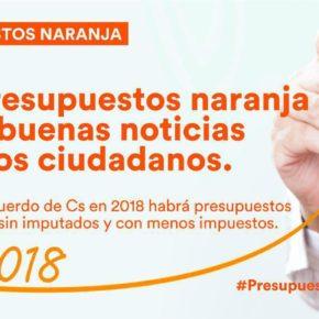 """Baena (Cs): """"El giro 'naranja' de los PGE de 2018 garantizará una subida de las pensiones para más de 50.000 riojanos"""""""