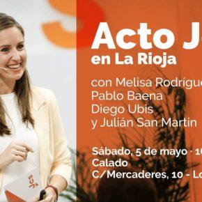 La Secretaria de Juventud de Ciudadanos, Melissa Rodríguez, participará mañana en un encuentro con Jóvenes Ciudadanos La Rioja