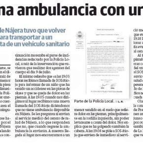 Ciudadanos exige la puesta en marcha de la segunda ambulancia de Nájera para dignificar lo necesario