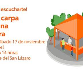 Ciudadanos Nájera organiza una carpa para informar de su propuesta sobre Peñaescalera