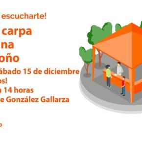 Ciudadanos explica su propuesta sobre la Casa de las Letras a los vecinos de la zona Centro de Logroño