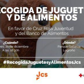 Jóvenes Ciudadanos La Rioja organiza su tradicional recogida de juguetes y alimentos a favor de Cruz Roja Juventud y Banco de Alimentos