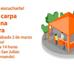 Ciudadanos Nájera organiza una carpa informativa sobre la situación de Peñaescalera