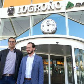 """Baena: """"Exigiremos al Gobierno de España que declare Obligación de Servicio Público el vuelo Logroño-Madrid-Logroño"""""""