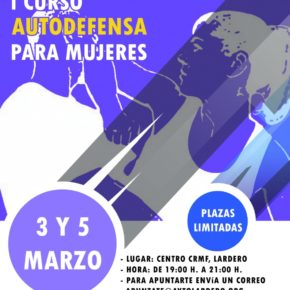Unas 50 mujeres participarán en las dos jornadas de defensa personal organizada por el Ayuntamiento de Lardero y la Guardia Civil