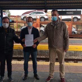 Cs exige al Gobierno de La Rioja que trabaje para que la Estación de Ferrocarril de Haro vuelva a prestar servicio