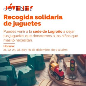 Jóvenes de Ciudadanos (JCs) La Rioja organizan la cuarta recogida de juguetes y alimentos para Navidad