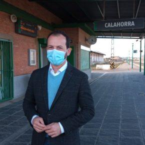 """Baena """"La estación de ferrocarril de Calahorra debe proyectarse y contar con fondos del Estado para ello"""""""