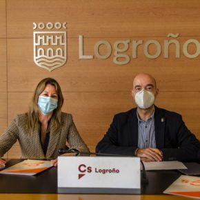 Ciudadanos insta al gobierno municipal de Logroño a avanzar en la colaboración para dotar de una línea alternativa con Lardero